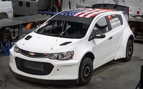 insane chevrolet sonic rally car  packing   ls