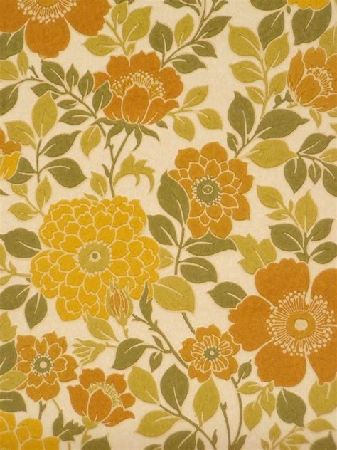 70s Floral by 70s Floral Wallpaper Patterns