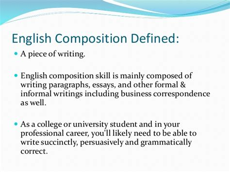 What Is Composition by Composition Skill