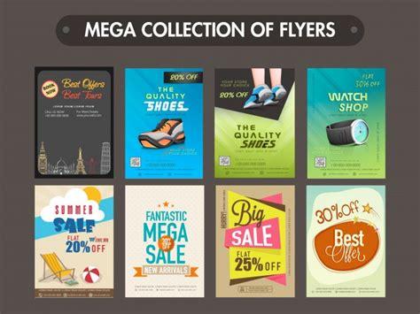 Moderne Flyer Vorlagen Mega Sammlung Verschiedenen Flyern Vorlagen Oder Banner Design Der Premium Vektor