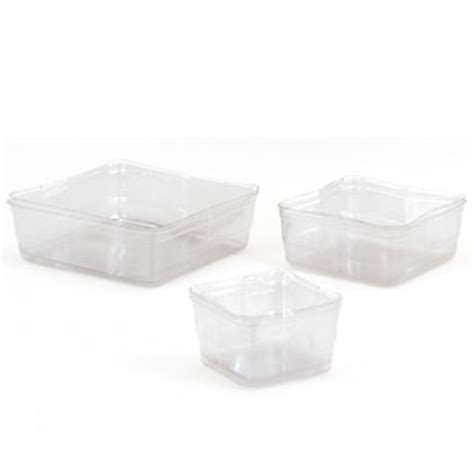 Clear Plastic Planter Liners by 5 Quot Clear Square Liners Floral Supply Syndicate Floral