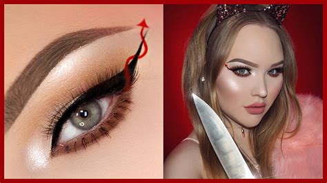 nikki tutorial eyeliner scream queens red devil eyeliner halloween makeup