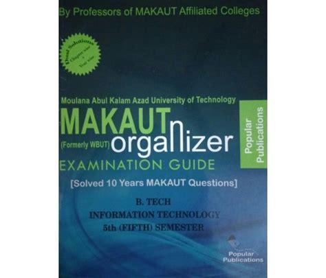 Makaut Mba 3rd Sem Syllabus by Makaut Wbut Organizer Information Technology 3rd Year