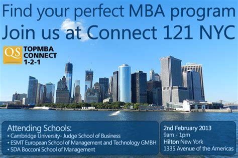 Mba Connect by Qs Top Mba Hosts Connect 1 2 1 Blackman Consulting
