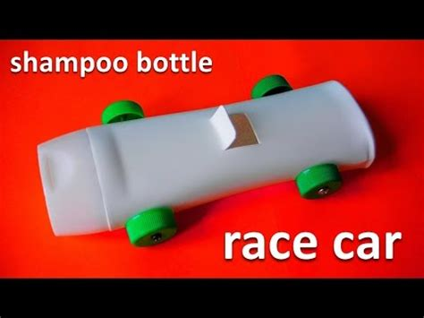 How To Make A Race Car Out Of Paper - how to make a race car from a shoo bottle recycled