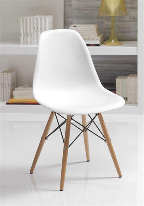 chaises blanche chaise style scandinave lozano sofamobili