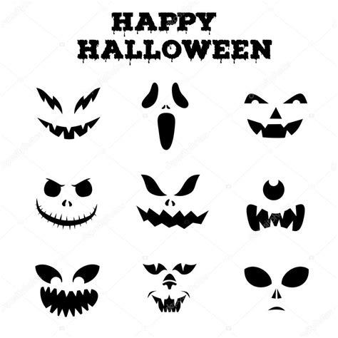 imagenes en blanco y negro de halloween colecci 243 n de calabazas de halloween hab 237 a tallada siluetas