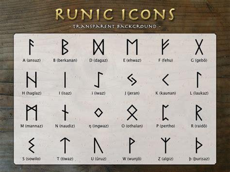 printable runic alphabet viking viking rune icons by asgardstudios on deviantart