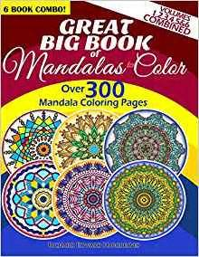 mandala coloring book vol 3 great big book of mandalas to color 300