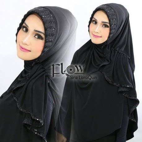 Liana By Kanio liana black baju muslim gamis modern