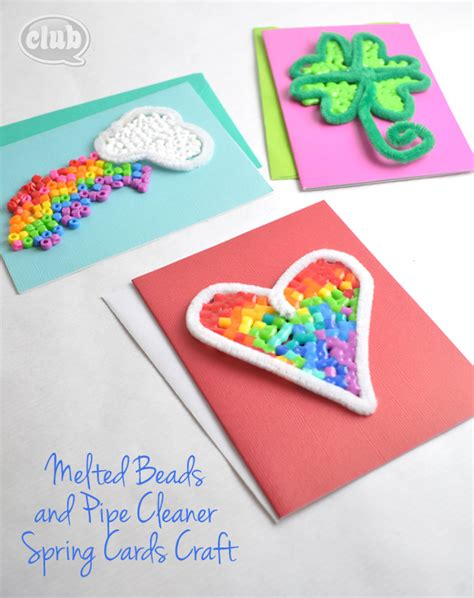 crafty card melted bead and pipe cleaner ornament craft