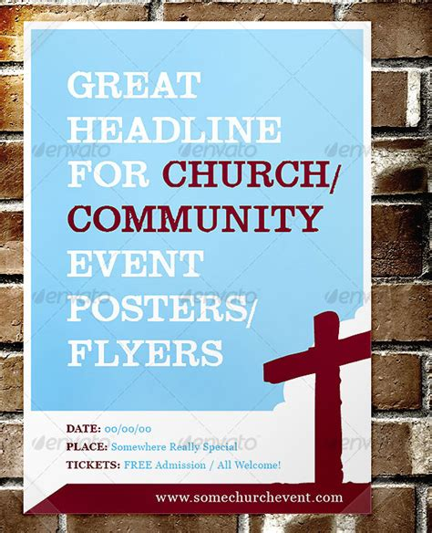 christian church flyer template free