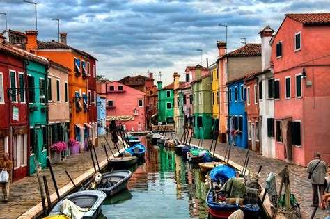 Italy Houses burano italy top quality wallpapers
