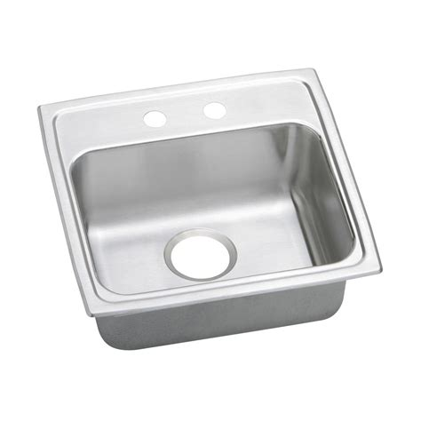 home depot kitchen sinks drop in elkay lustertone drop in stainless steel 20 in 2 hole