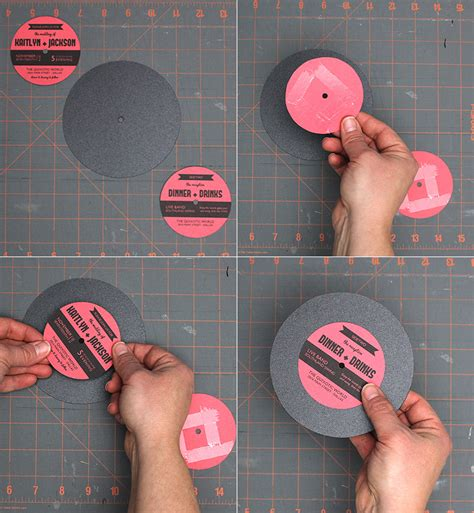 Totally Free Totally Rockin Diy Vinyl Record Wedding Ilustrator Tutorial Vinyl Record Invitation Template