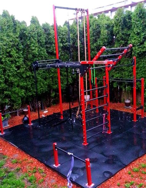backyard gymnastics outdoor gym ideas pinterest