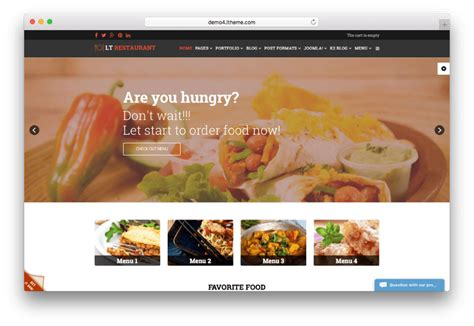 best food ordering 20 best restaurant joomla templates for food ordering