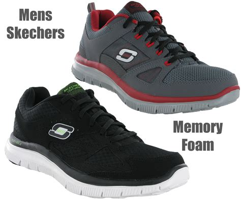 Skechers Memory Foam mens skechers memory foam master plan lightweight sports