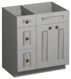 30 inch white shaker vanity combo base drawers left us