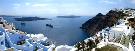 best views santorini high resolution and panoramic views the island and