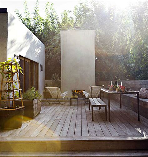 decks with fireplaces 10 modern deck spaces to inspire your summer backyard