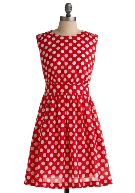 Dress Natal Cherry dress with white polka dots