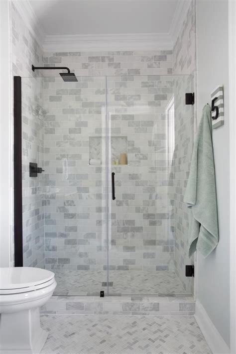 guest bathroom reveal shower doors shower tiles and