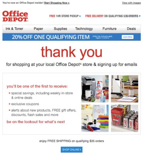 Office Depot Email Address 7 emails your e commerce store needs to be able to send out on an automated basis in2sight llc