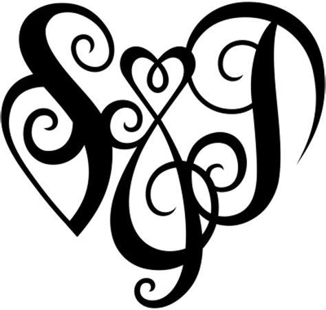 quot s amp j quot heart design a custom design of the initials quot s amp j
