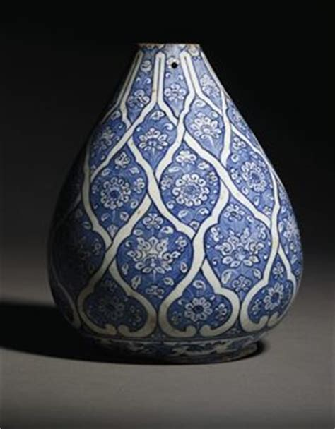 ottoman ceramics an iznik blue and white pottery bottle vase ottoman