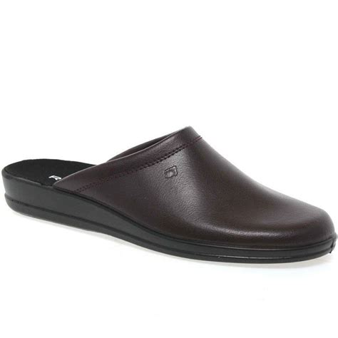 slippers white company rohde mule leather slip on mens slippers ebay