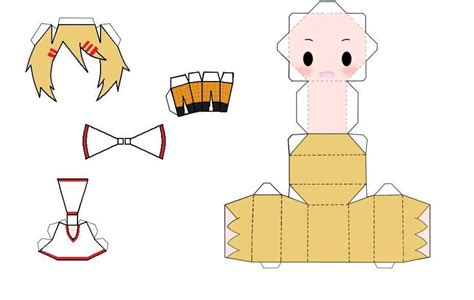 Anime Paper Crafts - anime papercraft chibi finny papercraft by