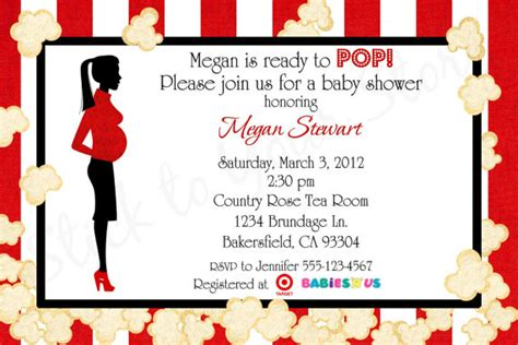Ready To Pop Baby Shower Invitations Free by 6 Best Images Of Printable Ready To Pop Popcorn Ready To