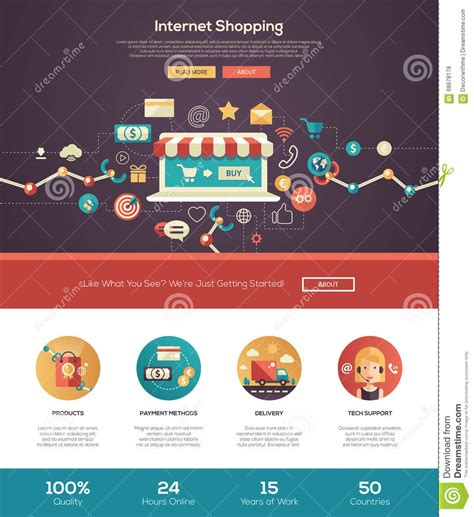 design header online online shopping website header banner with webdesign