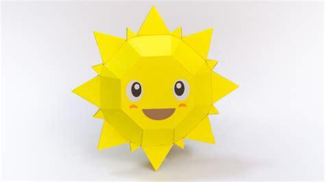 How To Make A Paper Sun - ว ธ ทำโมเดลกระดาษร ปพระอาท ตย ย ม smiling sun papercraft