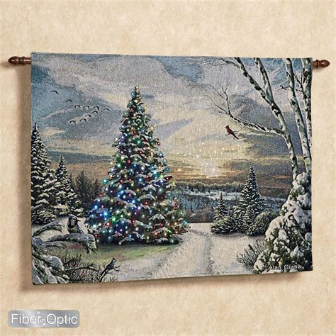 alan giana christmas morning ii lighted tapestry