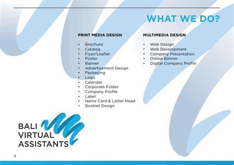 Bali Virtual Assistants Assistant Brochure Templates