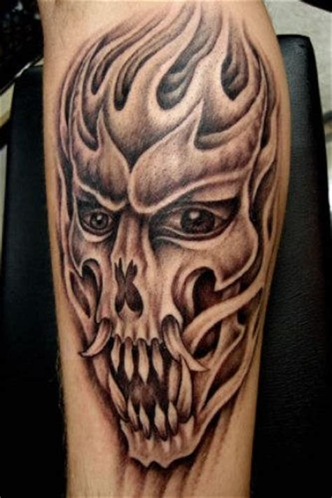 tribal skull sleeve tattoos tribal skull on sleeve