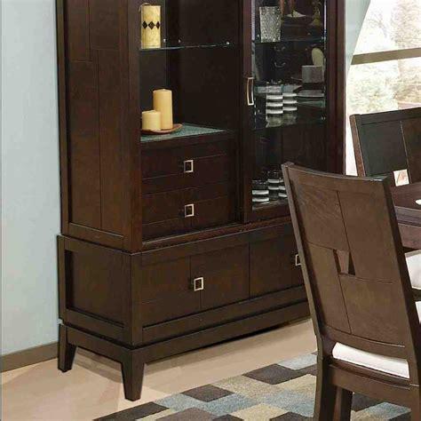 Espresso Dining Room Sets Espresso China Cabinet Home Furniture Design