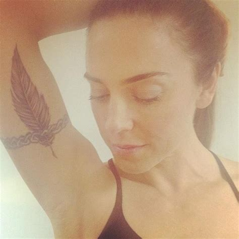 mel b tattoo mel c gets feather