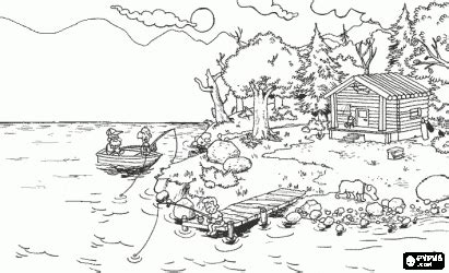 detailed landscape coloring pages for adults detailed landscape coloring pages for adults color bros