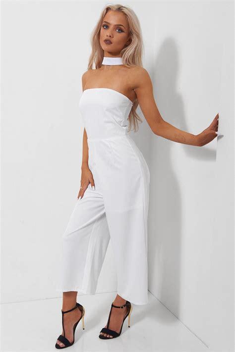 Jumpsuit Choker paridiso white choker jumpsuit the fashion bible from