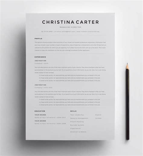 Creative Resume Template Minimalist Resume Resume Modern Minimalist Resume Template Free