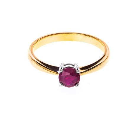 carat gold solitaire ruby ring  sale  stdibs