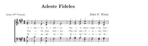 adeste fideles testo italiano adeste fideles spartito per pianoforte pianosolo il