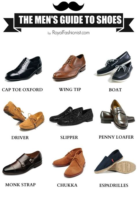 types of shoes for types of shoes list