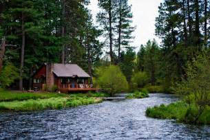 a cabin on the metolius river c sherman oregon