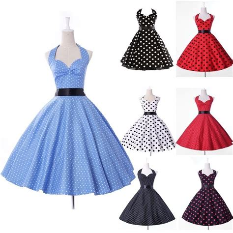 50 s swing dress vintage retro 50s 60s swing pinup dress