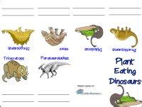 Dinosaur printable herbivore booklet