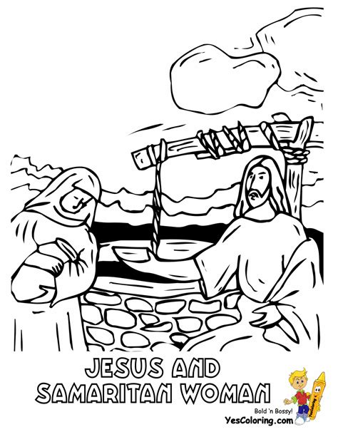 jesus and the samaritan at the well coloring pages samaritan images pictures photos bloguez